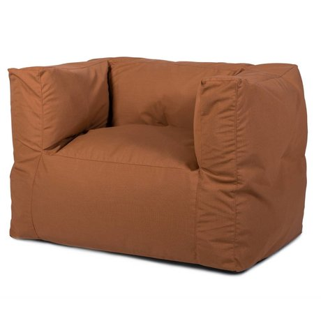 BRYCK Loungestoel Chair COPPERish koper textiel 75x75x100cm