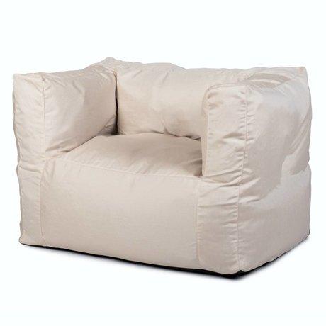 BRYCK Loungestoel Chair WHITEbroken wit textiel 75x75x100cm