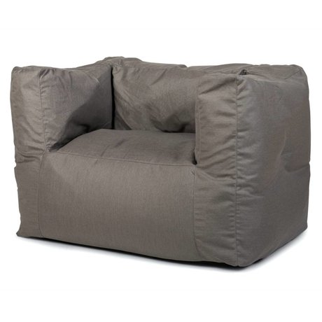 BRYCK Loungestoel Chair GREYlight grijs textiel 75x75x100cm