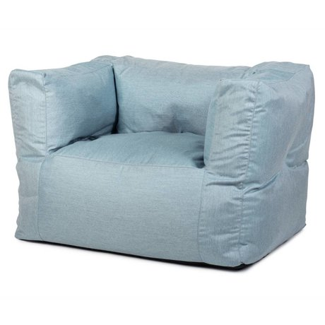 BRYCK Loungestoel Chair ICEblues blauw textiel 75x75x100cm