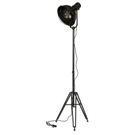 BePureHome Vloerlamp spotlight zwart metaal 167x54x45cm