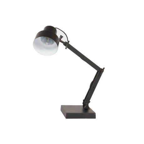 BePureHome Tafellamp Beam zwart aluminium staal Ø14x25x23cm