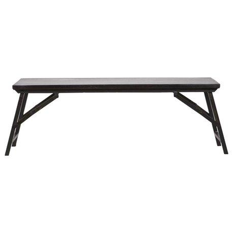 BePureHome Bankje Fold Up zwart hout metaal 46x130x35cm