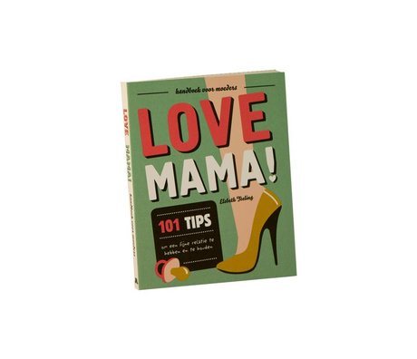 Uitgeverij Snor Boek Love Mama multicolour papier 1,4x16,7x13,3cm