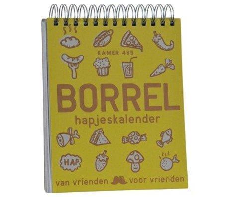 Uitgeverij Snor Kalender Borrelhapjes multicolour papier 3,3x23,3x17,5cm