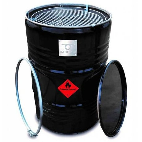 BarrelQ Barbecue big zwart metaal Ø57x87cm