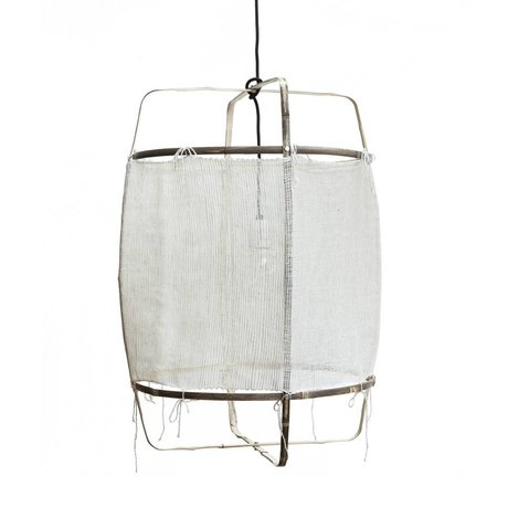 Ay Illuminate Hanglamp Z11 naturel wit bamboe cashmere cover ø48.5x72,5cm