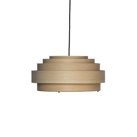 Ay Illuminate Hanglamp Thin medium naturel bruin bamboe Ø50x23cm