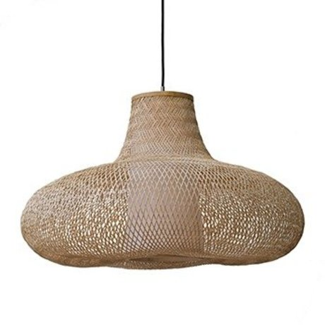 Ay Illuminate Hanglamp May small naturel bruin bamboe Ø70x42cm