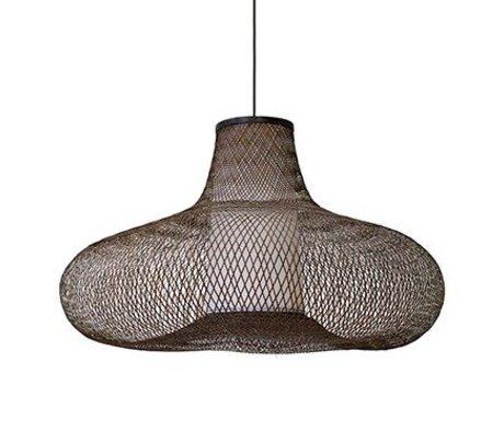 Ay Illuminate Hanglamp May large bruin bamboe Ø95x56cm