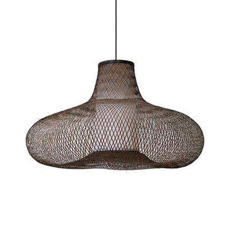 Ay Illuminate Hanglamp May small bruin bamboe Ø70x42cm
