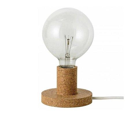 Bloomingville Tafellamp licht bruin kurk Ø12,5x6,5cm