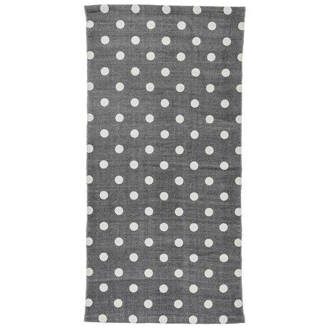 Bloomingville Vloerkleed stippen grijs zwart katoen 60x120cm