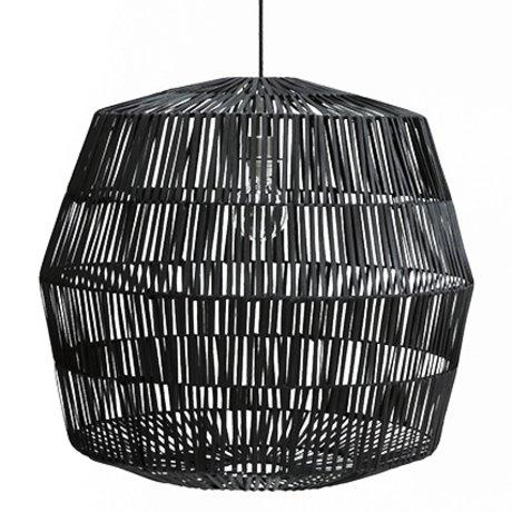 Ay Illuminate Hanglamp Nama 4 zwart rotan ø72x69cm