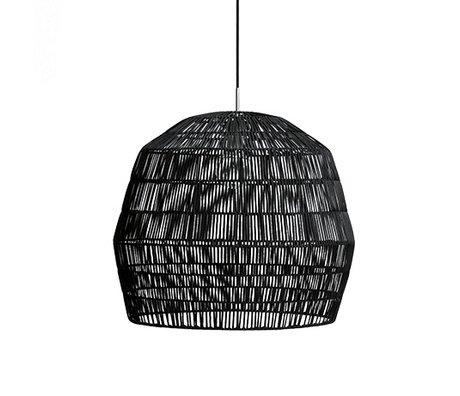 Ay Illuminate Hanglamp Nama 2 zwart rotan ø58x51cm