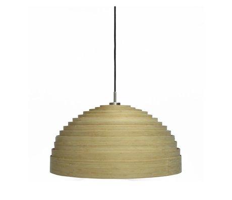 Ay Illuminate Hanglamp Lump Medium naturel bruin bamboe ø75x38cm