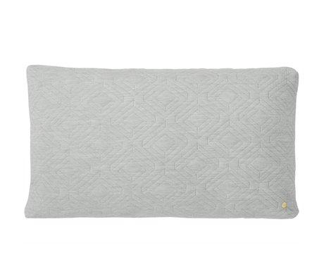 Ferm Living Sierkussen Quilted licht grijs 80x50cm