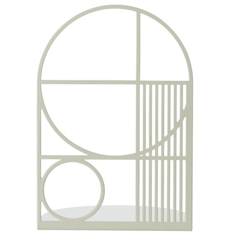 Ferm Living Boekensteun Outline grijs metaal 14x14x20cm