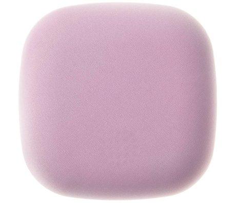 Jalo Rookmelder Kupu fabric roze kunststof 11x11x3,9cm