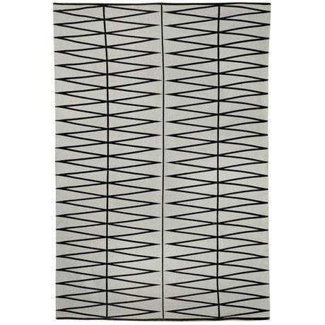 Bloomingville Vloerkleed bedrukt grijs zwart katoen 140x200cm