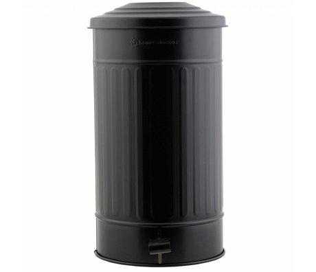 Housedoctor Prullenbak staal zwart Ø25,5x48cm