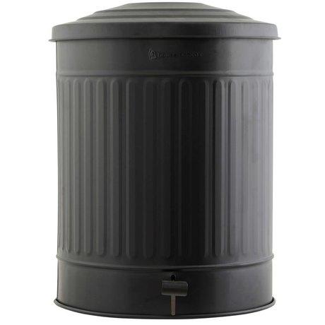Housedoctor Prullenbak staal zwart Ø37x48cm