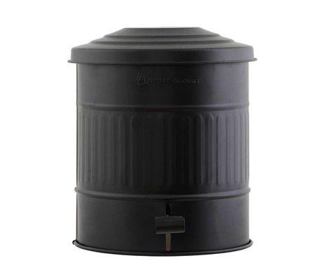Housedoctor Prullenbak staal zwart Ø25,5x30cm