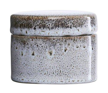 Housedoctor Opbergbakje Croz wit aardewerk Ø8,5x7cm