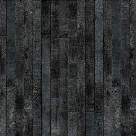 NLXL-Piet Hein Eek Behang Maarten Baas Burnt Wood papier zwart 900x48,7cm