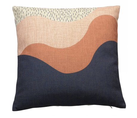 FÉST Sierkussen Lov bleu katoen polyester multicolour 45x45cm