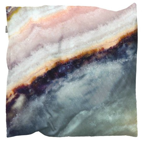 Snurk Beddengoed Sierkussen hoes Macro Mineral blauw 50x50cm