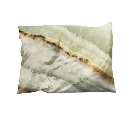 Snurk Beddengoed Sierkussen hoes Macro Mineral groen 35x50cm