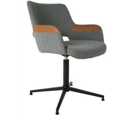 Zuiver Stoel Syl polyester grijs bruin 57x61x81,5cm
