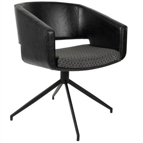Zuiver Stoel Beau kunstleer polyester zwart 61x57x77cm