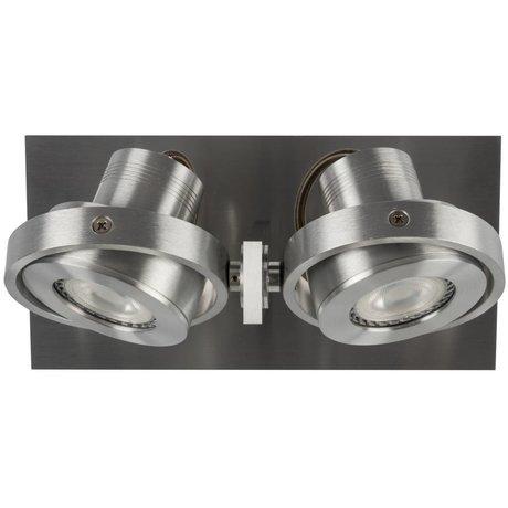 Zuiver Wandlmap LUCI-2 LED aluminium grijs 23x11,5x12,8cm