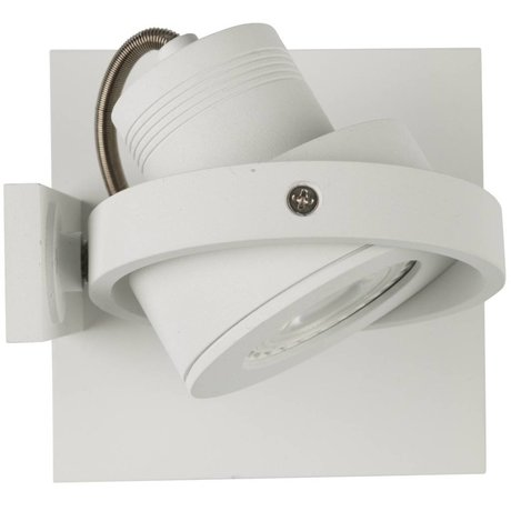 Zuiver Wandlamp LUCI-1 LED aluminium wit 11,5x11,5x12,8cm