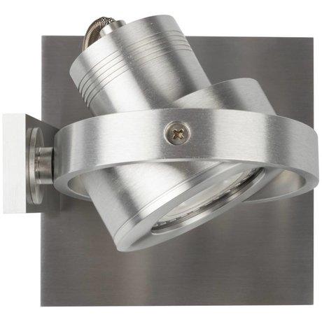 Zuiver Wandlamp LUCI-1 LED aluminium grijs 11,5x11,5x12,8cm