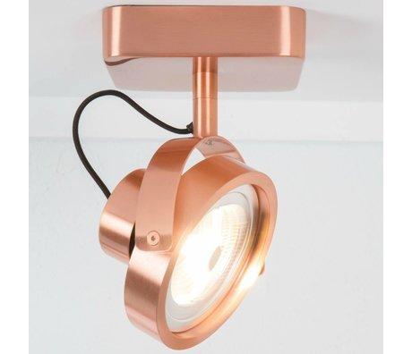Zuiver Wandlamp DICE-1 LED staal koper 12x12x3cm
