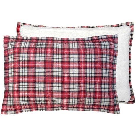 Storebror Kussen gewatteerd fleece rood polyester 40x60cm