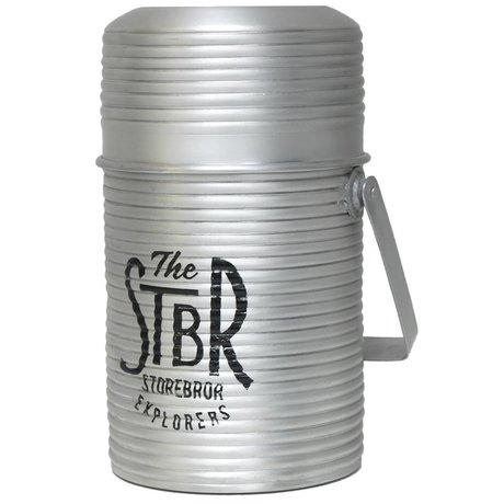 Storebror Opberg pot jar grijs aluminium 15x15x27cm