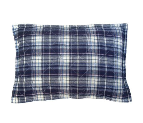 Storebror Kussen gewatteerd fleece blauw polyester 40x60cm