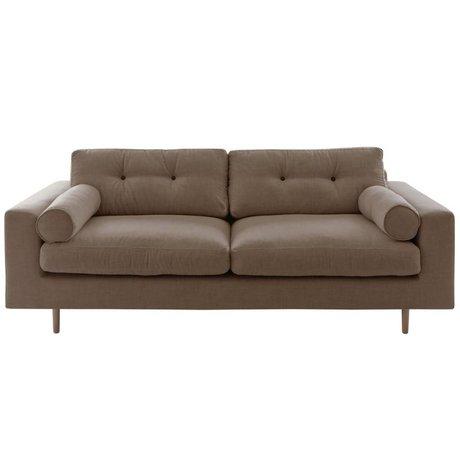 I-Sofa Bank Gilmour 3 zitsbank cappuccino bruin 214x80x90cm