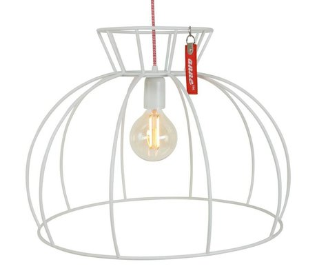 Anne Lighting Hanglamp Anne Crinoline wit metaal ø53x38cm