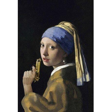 Arty Shock Schilderij Vermeer Meisje Met De Parel M multicolor plexiglas 80x120cm
