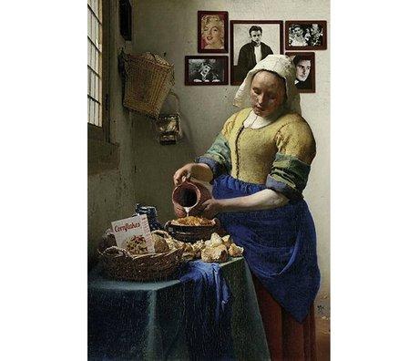 Arty Shock Schilderij Vermeer Melkmeisje M multicolor plexiglas 80x120cm