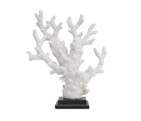 HK-living kunstmatig koraal wit kunststof 29x10,5x34cm