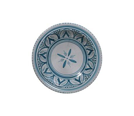 HK-living Schaal souk medium C grijs blauw aardewerk 22x22x6cm
