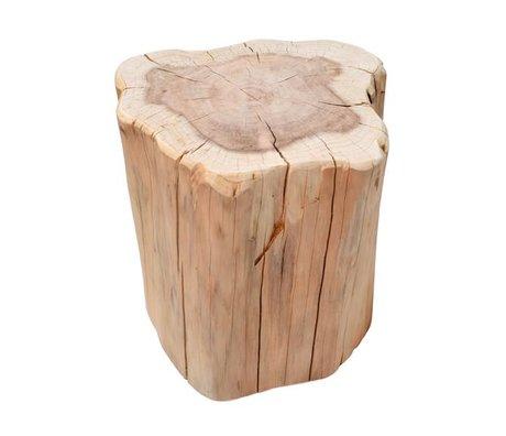 HK-living Bijzettafel boomstam bruin metasequoia hout circa 40x30x40cm