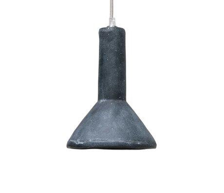 HK-living Hanglamp zwart beton 18x18x28cm