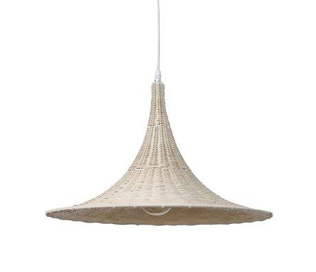 HK-living Hanglamp Trompet naturel bruin riet 50x50x36cm